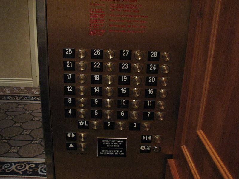 Triskaidekaphobia fear of the number thirteen for 15th floor on 100 floors